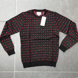 Gucci casual sweater mens long sleeve Medium Black